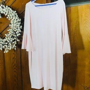 Calvin Klein light pink stretchy dress